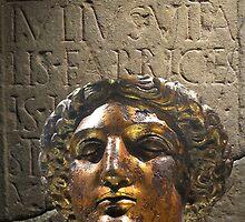 Head of Sulis Minerva, Roman Baths, Bath, UK by buttonpresser