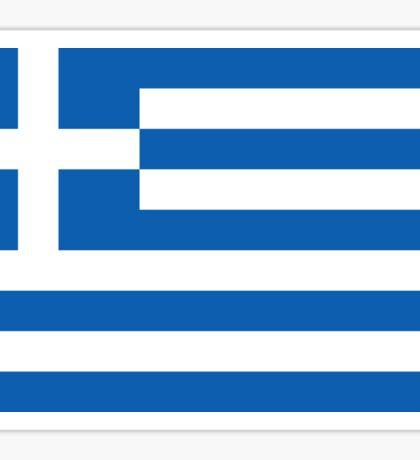 Greek National Flag T-Shirt - Greece Sticker Sticker