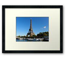 Eifel from the bateau mouche Framed Print