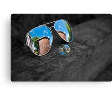 Sun Glass Bubble Canvas Print