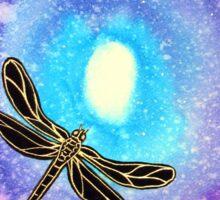 Cosmic Dragonfly Sticker