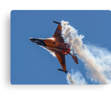 Dutch F-16 Solo Demonstration Canvas Print
