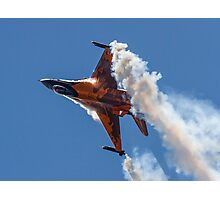 Dutch F-16 Solo Demonstration Photographic Print