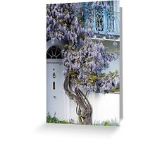 Wisteria balcony Greeting Card