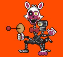 FNAF World - Adventure Mangle - Pixel art Kids Tee
