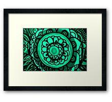 Green Floral Pattern Framed Print