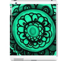 Green Floral Pattern iPad Case/Skin