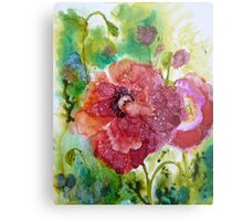 Alcohol Poppies Metal Print