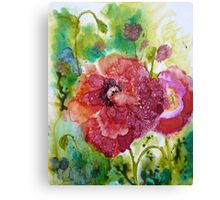 Alcohol Poppies Canvas Print