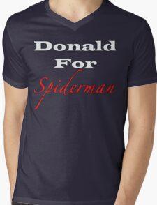 Donald For Spiderman Mens V-Neck T-Shirt