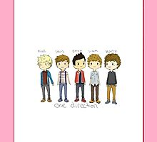 1D Cute Members Drawing iPhone/iPod Case (Horizontal) by dream--catch3r