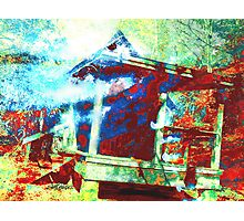 Cabin in the Fog Photographic Print