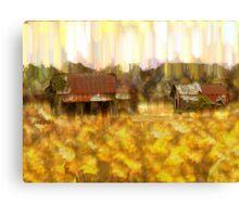 Looking Through Weeds Canvas Print