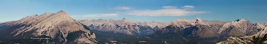 Canadian Rocky Mountain from Mount Sulfur Panorama by Yannik Hay