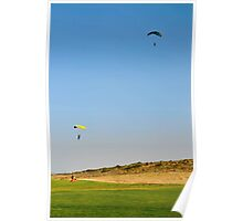 Paragliding during the jump Poster