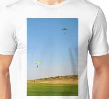 Paragliding during the jump Unisex T-Shirt