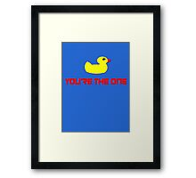 Rubber Ducky You're The One - I Love Sesame Street Inspired T-Shirt Framed Print