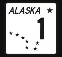 Route 1, Alaska, USA One Piece - Short Sleeve