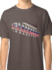 Row of American flags Classic T-Shirt
