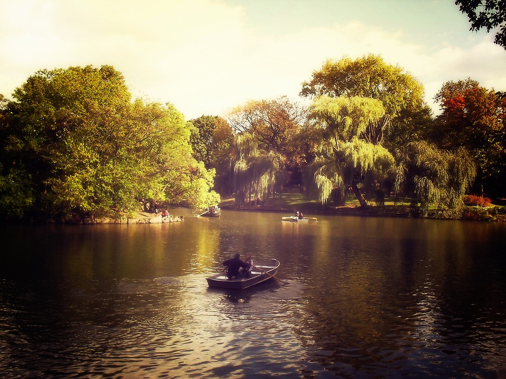 Central Park Boats - New York City by Vivienne Gucwa
