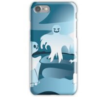 Cartoon Cemetery with Ghosts 2 iPhone Case/Skin