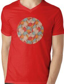 Romantic leaves Mens V-Neck T-Shirt