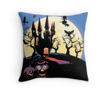 Haunted Halloween Castle 2 Throw Pillow