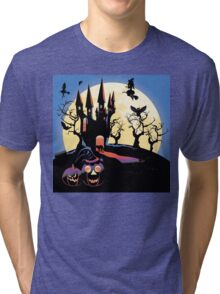 Haunted Halloween Castle 2 Tri-blend T-Shirt