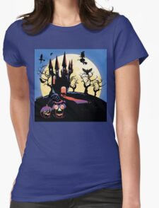 Haunted Halloween Castle 2 Womens Fitted T-Shirt