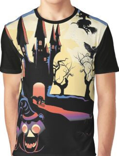 Haunted Halloween Castle 2 Graphic T-Shirt