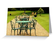 The Cafe in the Park Greeting Card