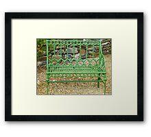The Green Garden Seat Framed Print