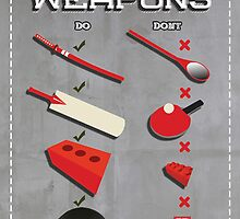 Zombie weapons checklist by SixPixeldesign