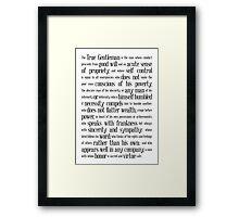 The True Gentleman Framed Print