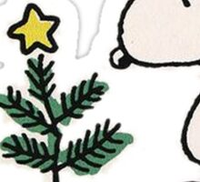 snoopy christmas Sticker