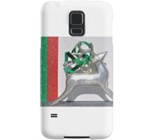 Christmas:  Holiday Stripes and a Reindeer Samsung Galaxy Case/Skin