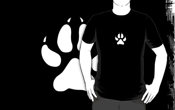 Paw Print in White by NeedsMoreCoffee