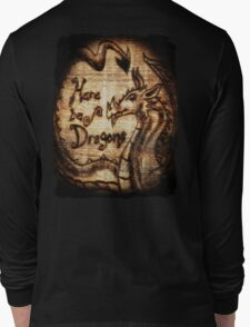 Here be Dragons! Long Sleeve T-Shirt