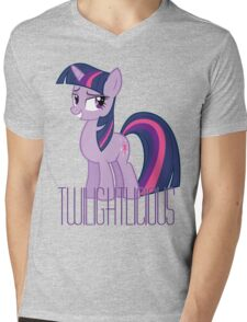 Twilight Sparkle is oh so Twilightlicious Mens V-Neck T-Shirt