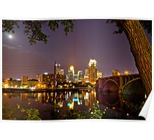 Downtown Minneapolis from St. Anthony Main Poster