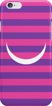 Minimalist Alice in Wonderland Cheshire cat iPhone and iTouch case by sfrost