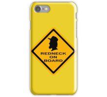 Redneck on Board (diamond) iPhone Case/Skin