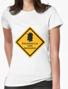 Redneck on Board (diamond) Womens Fitted T-Shirt