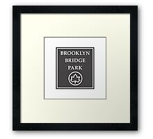 Brooklyn Bridge Park, New York City Park, USA Framed Print
