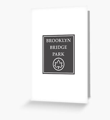 Brooklyn Bridge Park, New York City Park, USA Greeting Card