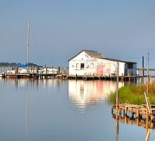 Chesapeake Bay Boat House by Monte Morton