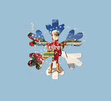 Summer Santa Snowflake at Christmas Time New Zealand Australia Unisex T-Shirt