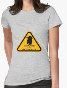 Beware - Rednecks Womens Fitted T-Shirt