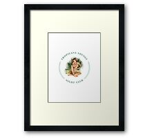 Tropicana Lounge Hula Girl 3 Framed Print