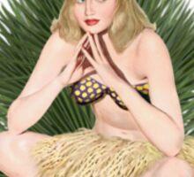 Tropicana Lounge Hula Girl 4 Sticker